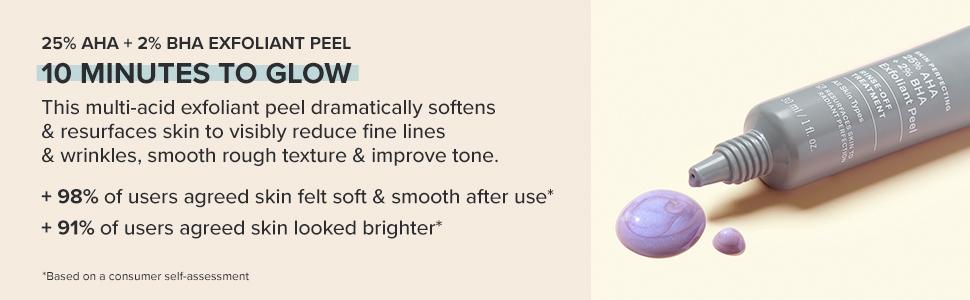 This multi-acid exfoliant peel softens and resurfaces to improve texture & tone.