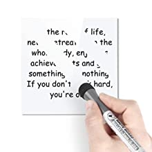 Dry erase boards Erasable - No ghost