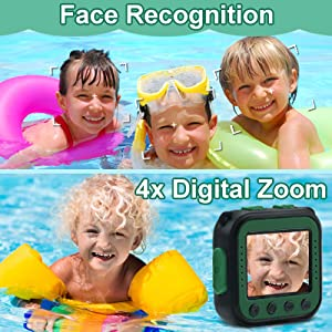 Face Recognition and 4x Digital Zoom