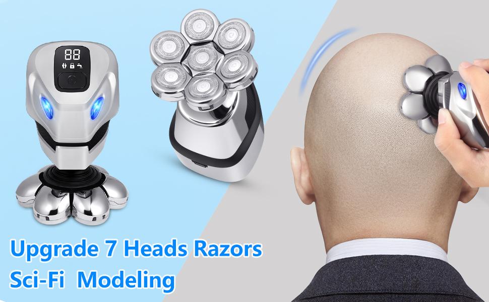 7 heads electric razor