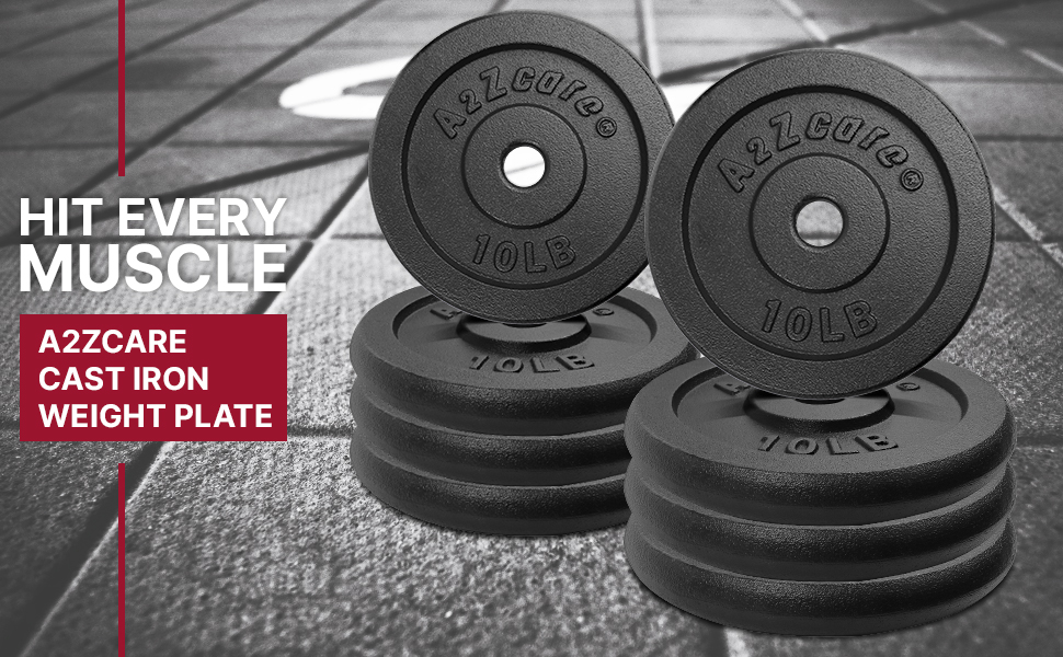Cast Iron Weight Plates - Hit Every Muscle