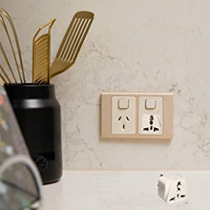 Grounded Outlet Socket for kitchen electronic appliances