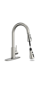 brushed kitchen faucet