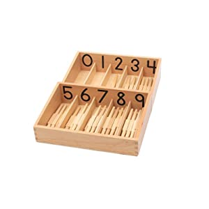 Elite Montessori Numbered Spindle Box with 45 Spindles