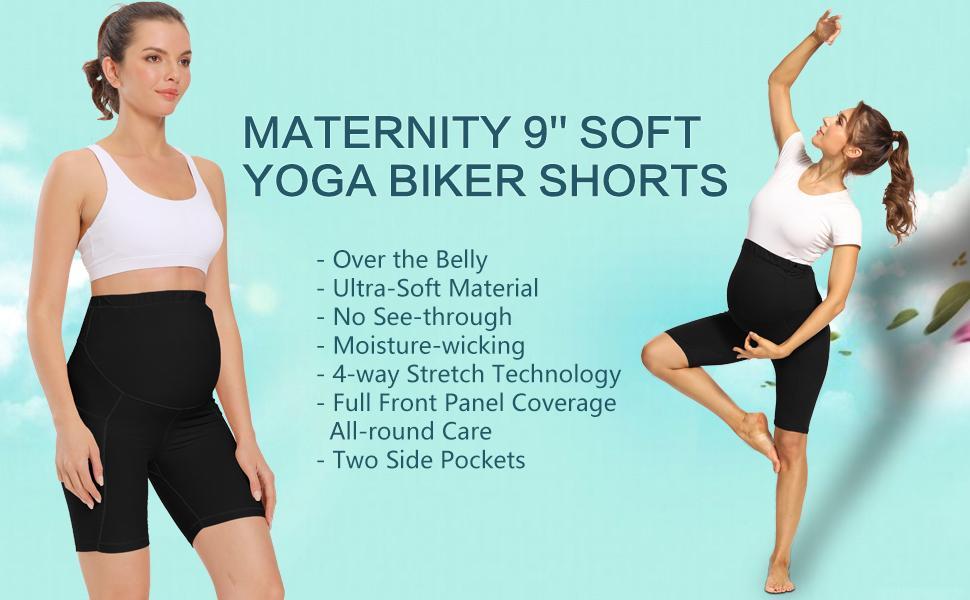 womens maternity shorts maternity biker shorts maternity yoga shorts