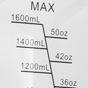 1600ML capacity