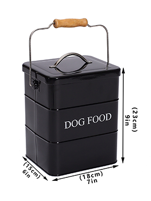 dog food and dog treat containers cute