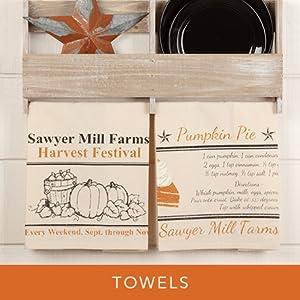 sawyer mill harvest towels