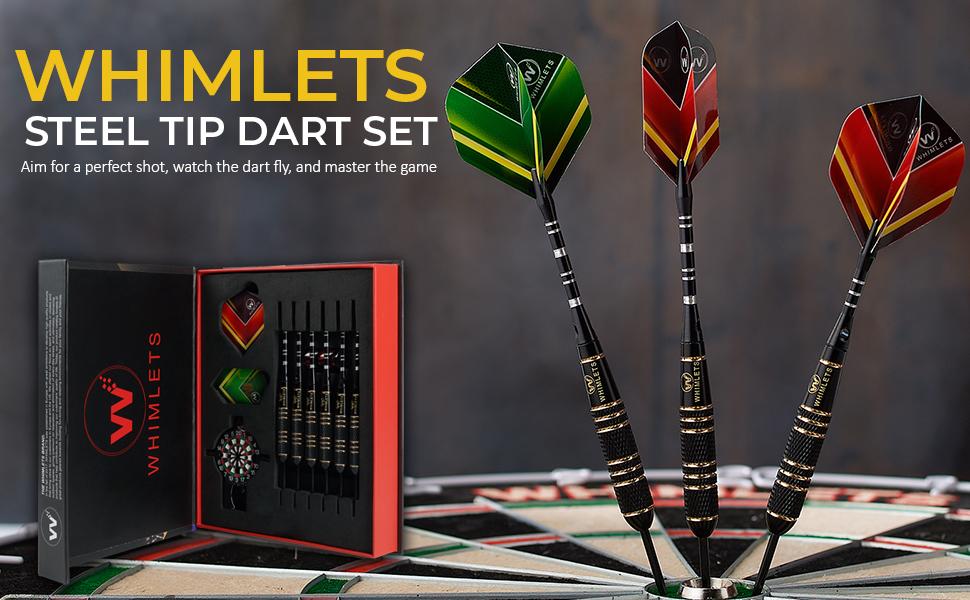 Whimlets Professional Steel Tip Darts Set 22g