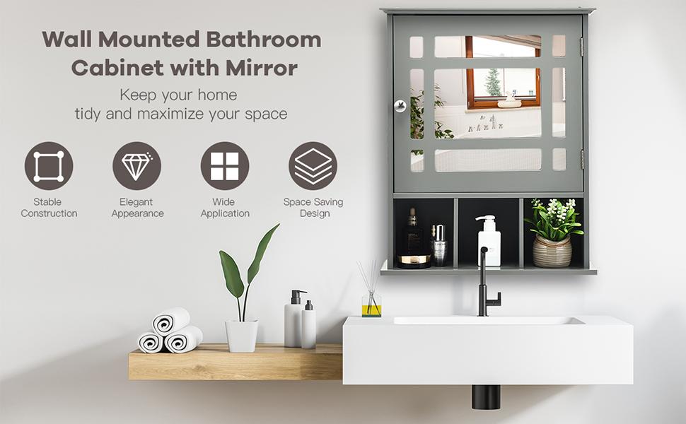 mirror cabinet for bathroom
