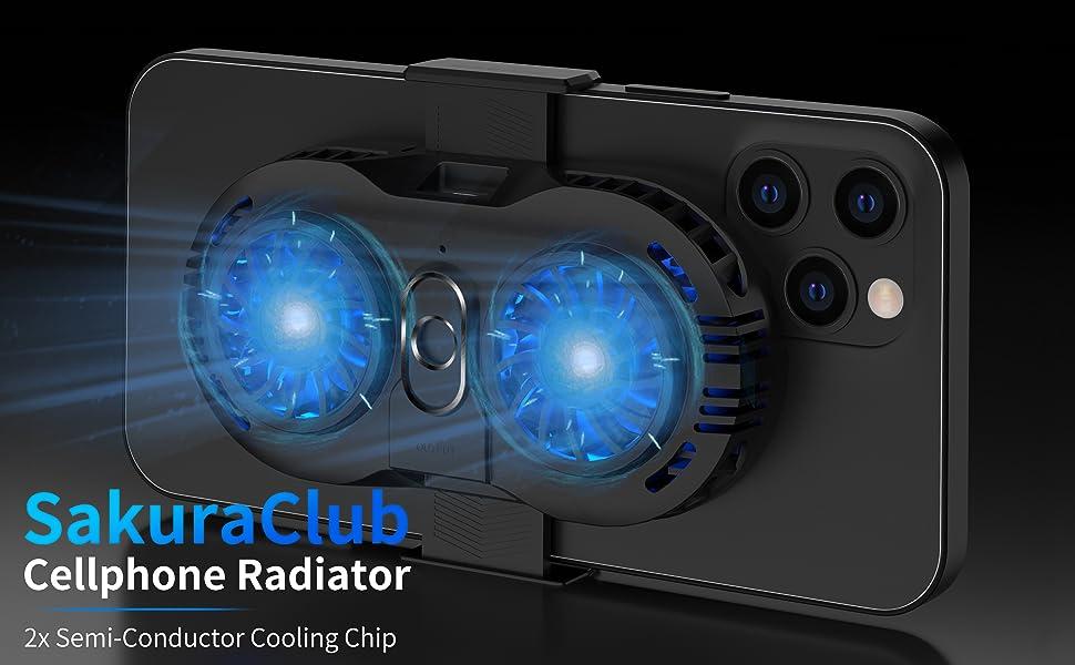 SakuraClub Dual Semi-Conductor Phone Cooling Fan