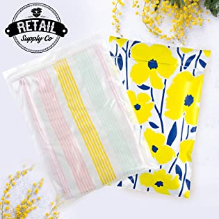 clear zipper poly bag by Retail Supply Co