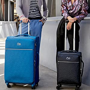 CLOE, luggage, fashion, travel, carry on luggage, , soft luggage sets, luggage lock tsa approved,