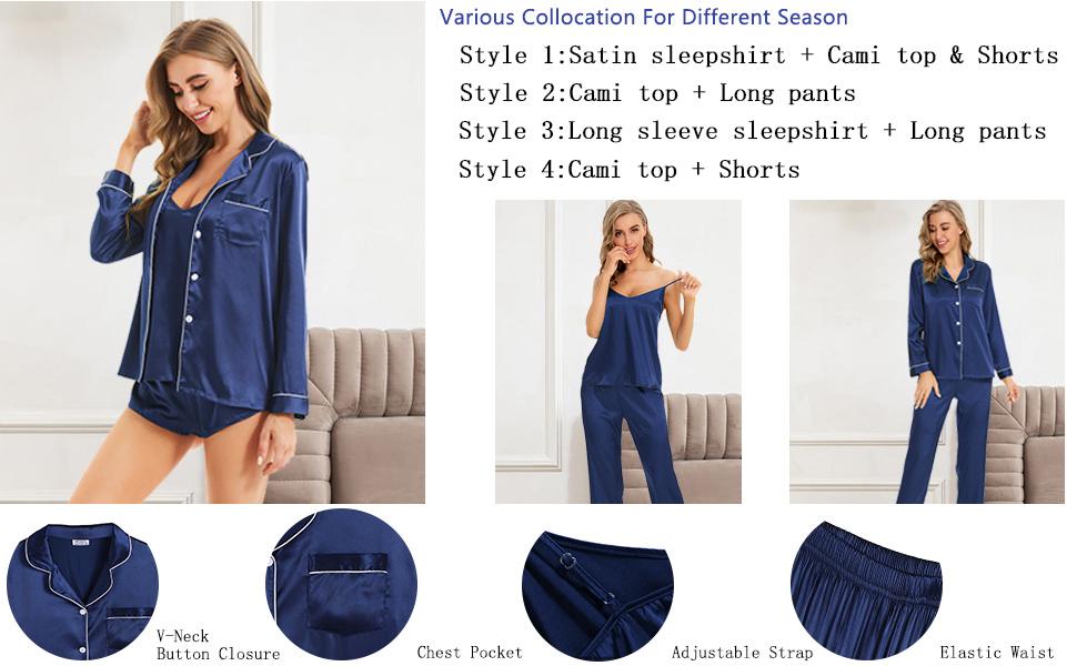 4 pcs satin sleepwear