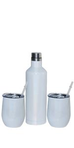 17  oz wine tumbler and bottle set