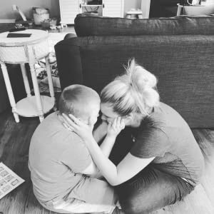 Kate Swenson and her son