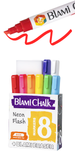 Eight pack of markers with magic eraser sponge.