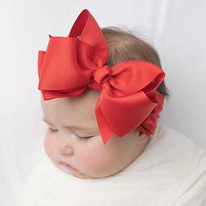 red baby headbands