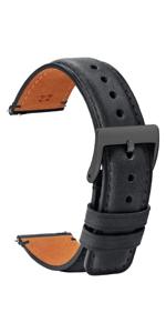 black watch band black clasp
