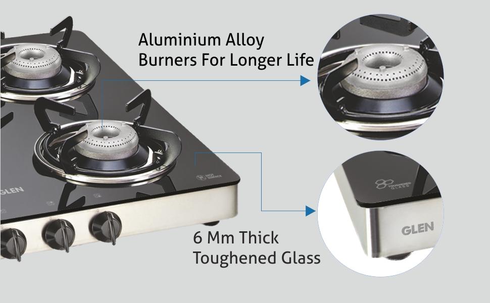 4 Burner cooktop