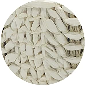 off white rattan headband