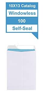 10x13 Security White Catalog Envelopes Self-Seal