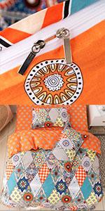 boho duvet cover 3 piece cotton soft
