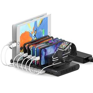 usb c pd charging station for multiple devices 10 port desktop charger dock station