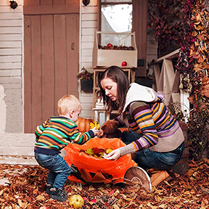 The leaf bags will be so cute in the yard for Halloween and great for Fall cleanup
