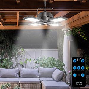 solar patio light with remote control