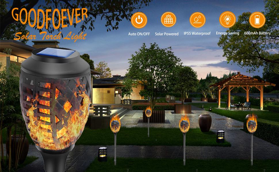 Flame Solar Torch Light
