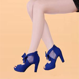 Blue heel sandals