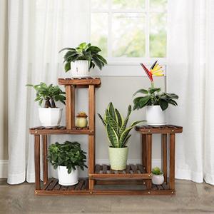 Indoor Outdoor Wood Plant Stand