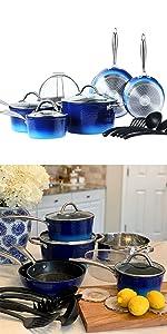 Hammered cookware set
