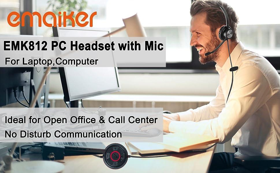 1 ear USB  Headset, Computer headphone,  headphone for PC , USB Headset  USB headphones with mic