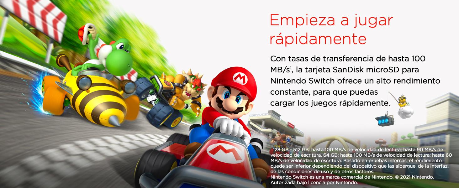 SanDisk Nintendo, Switch, mSD