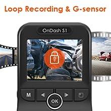 loop recording and g-sensor