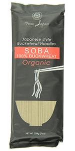 Japanese style buckwheat noodles soba 100% buckwheat organic