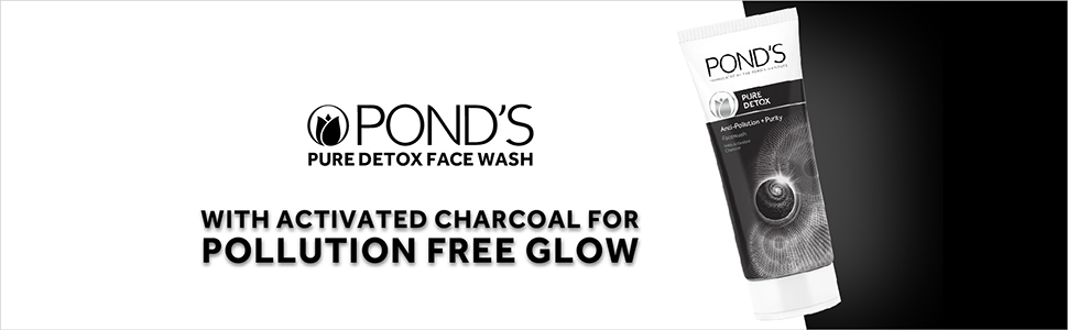 Pond's Pure Detox Anti-Pollution Purity Face Wash With Activated Charcoal