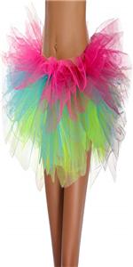 Women Girls Tulle Tutu Skirt Vintage Ballet Bubble Dance Skirts Costumes Skirts