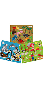 felt boards story set toddlers foldable travel friendly