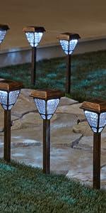 set of 8 solar lights
