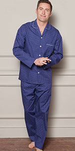 mens pyjama pj set top and bottom complete nightwear loungewear sleep stylish design gift birthday