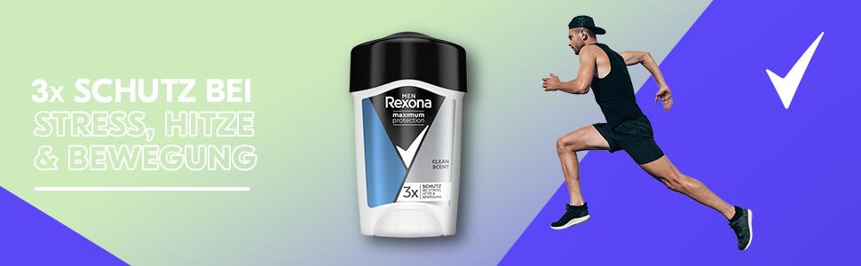 Rexona Maximum Protection Anti-Transpirant ist der stärkste Schutz gegen Schweiss und Körpergeruch