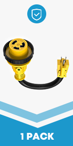 15Amp Male to 30Amp Female Adapter