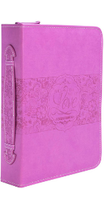 bible cover pink