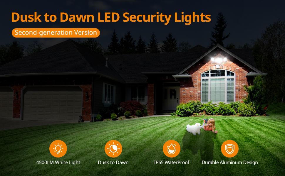 dusk to dawn flood lights, led outdoor flood light, outdoor dusk to dawn lights