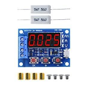 externe Ladung 5 St/ück Li-Ion-Lithium-18650 digital Aideepen ZB2L3 Micro-USB-Batterie-Kapazit/ätstester Batterietester LED