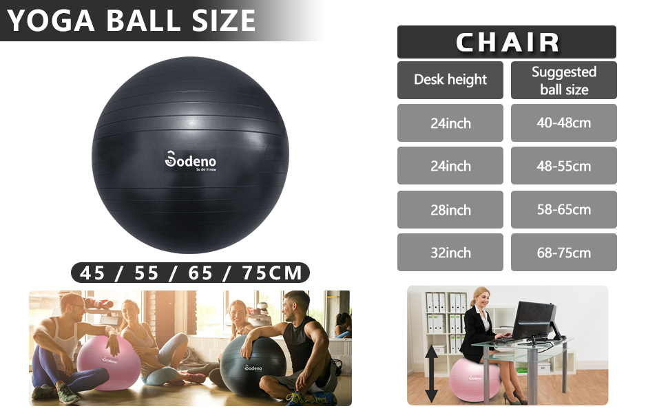 Yoga ball size
