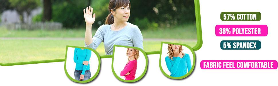 Women's long sleeve under scrub tee
